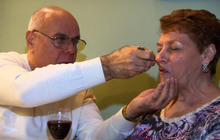 The rising resolve of an Alzheimer's patient's husband
