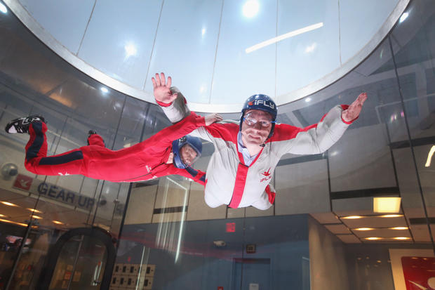 Skydiving indoors