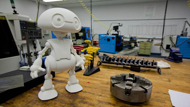 Bright image in 3d printable robot