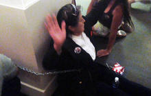 Protesters chain themselves to Albuquerque mayor's office