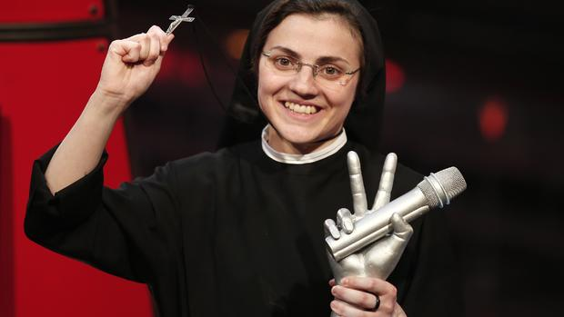 "Singing nun wins ""The Voice"""