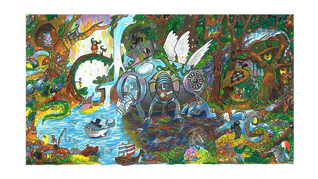 Scribble Google Drawing : Year old wins google doodle competition cbs news