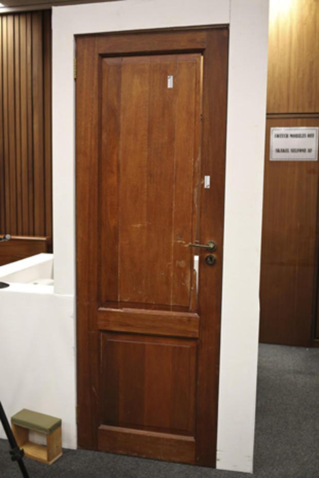 Oscar Pistorius' door