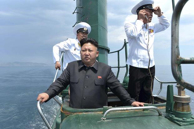 Kim Jong-un tours a submarine