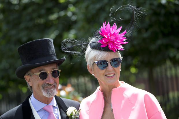 Ornate hats at the Royal Ascot horse race