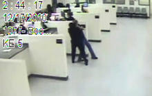 Caught On Tape: Prison guard beats suspect