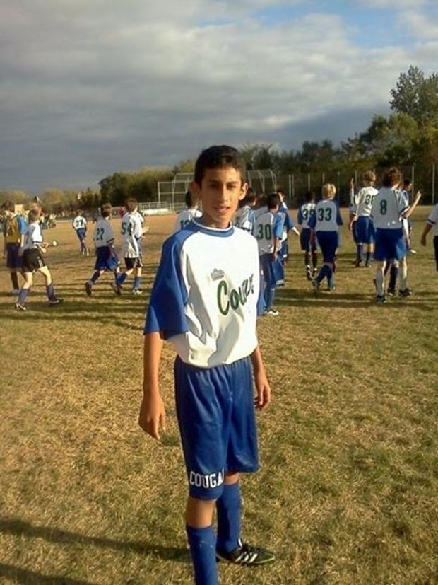 Raul playing soccer in Minnesota