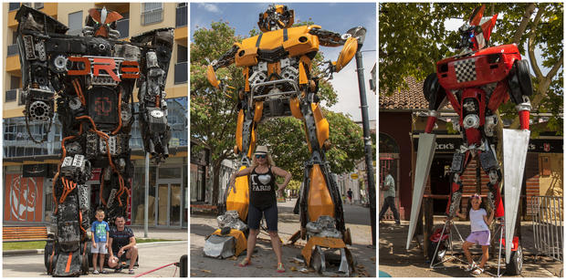 """Transformers"" built from scrap"