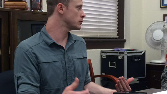 This photo provided by Eugene R. Fidell shows Sgt. Bowe Bergdahl preparing to be interviewed by Army investigators in August 2014.