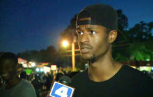 Protester interview interrupted by police tear gas in Missouri