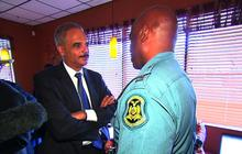"""Eric Holder in Ferguson: """"I need to be here"""""""
