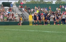Female soccer players rally against use of artificial turf in World Cup