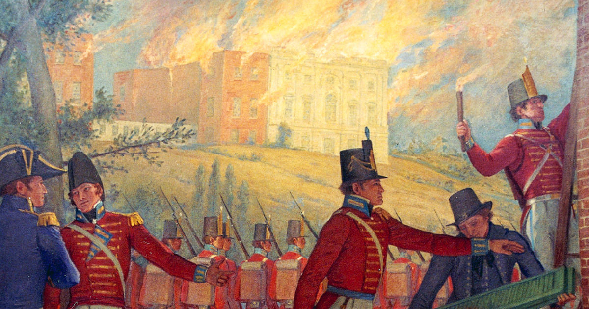 The 1814 Burning Of Washington D C Cbs News