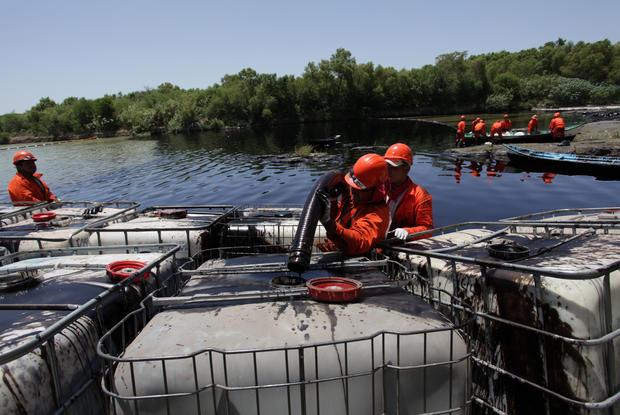 Spills pollute Mexican rivers
