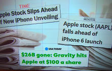 Apple shares fall after Samsung reveals new products
