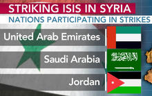 Nations participating in strikes