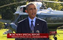 Special Report: Obama addresses U.S. airstrikes in Syria