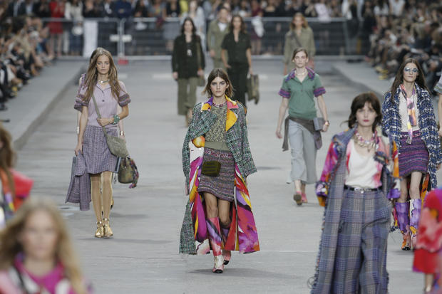 "Chanel's Paris ""protest"""