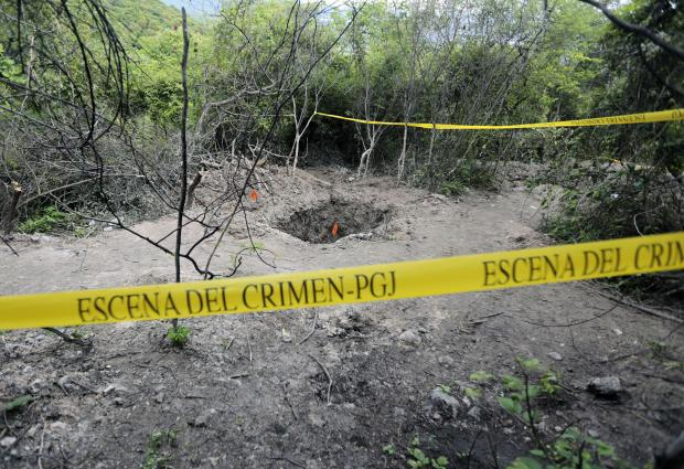 View of a grave in Pueblo Viejo, in the outskirts of Iguala, Guerrero state, Mexico