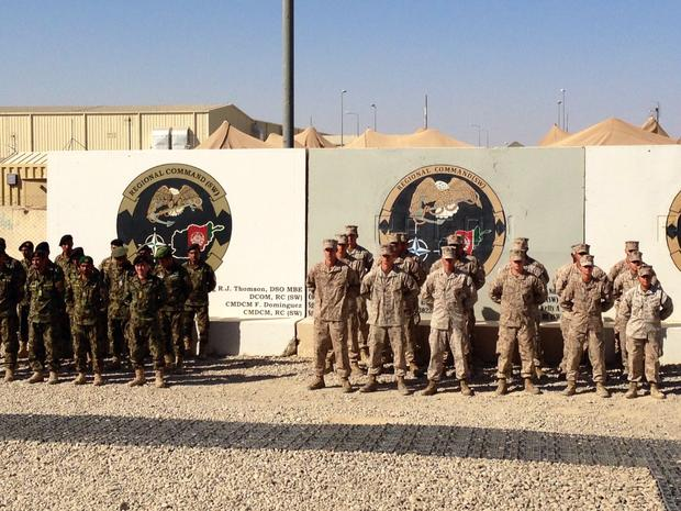 U.S. Marines end operations in Afghanistan