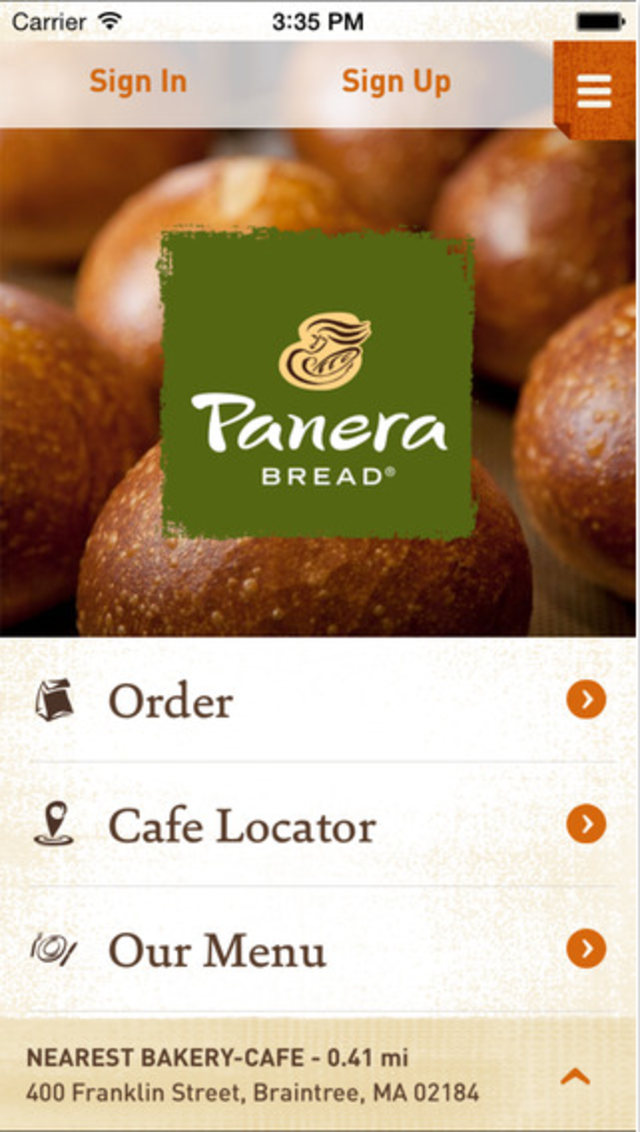 Panera Bread - 11 apps for getting fast food faster