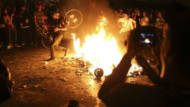 World Series celebration turns violent