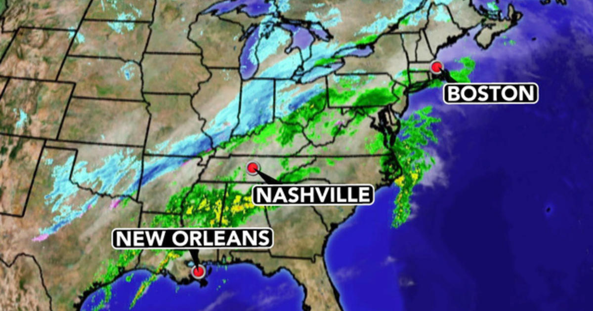 Weather Map For Louisiana.Weather Forecast Rain Snow From Louisiana To Maine Cbs News