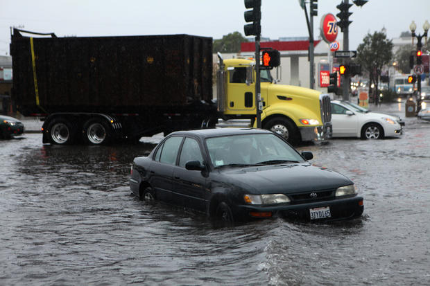 Storm slams California