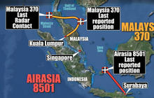 Differences between AirAsia and Malaysia Airlines' missing flight mysteries
