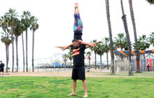 AcroYoga for couples builds strength, trust