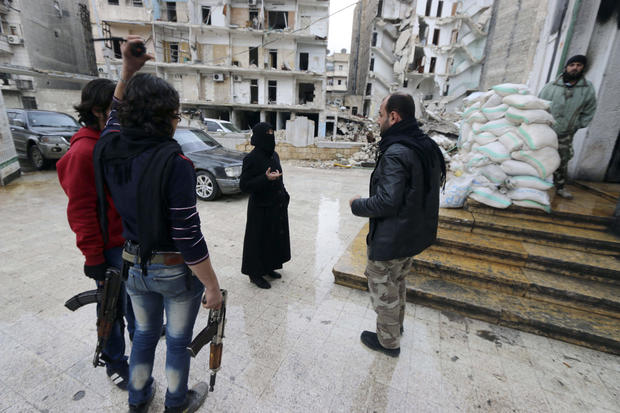Women on the front lines in Syria