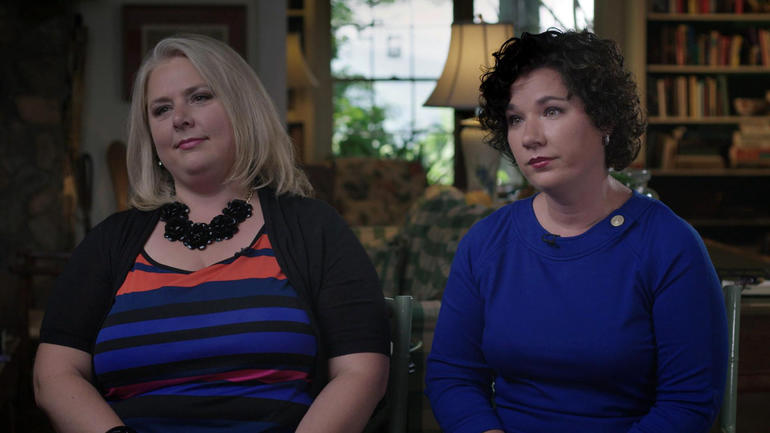 Jessica Freeman, left, and Andrea Little Gray