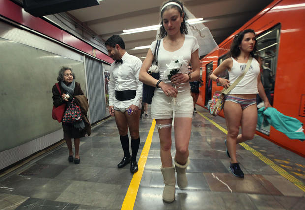 No pants on the subway