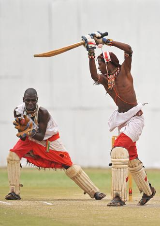 Masai warriors play cricket for social change
