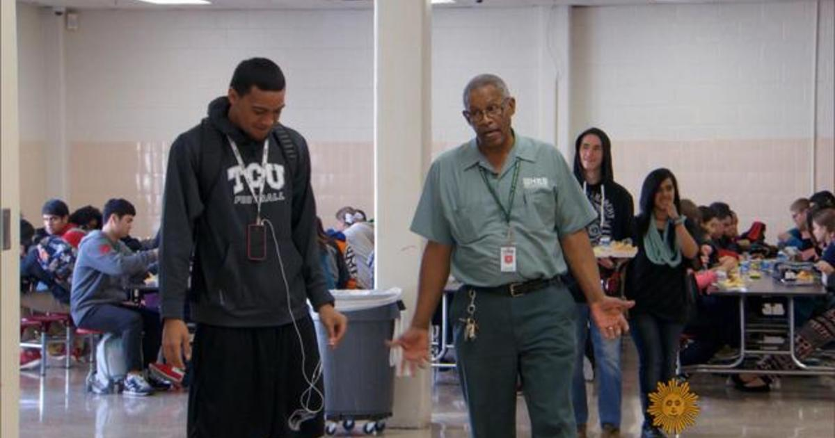 High school janitor goes above and beyond - Videos - CBS News