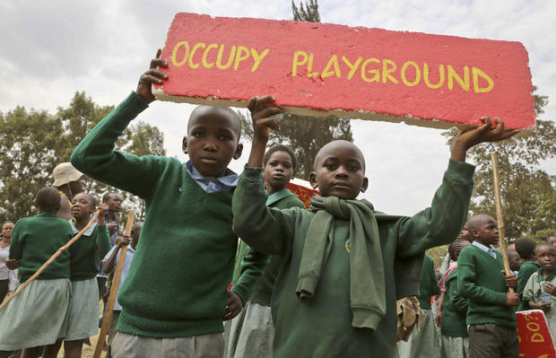 Kenya school children tear gassed over playground
