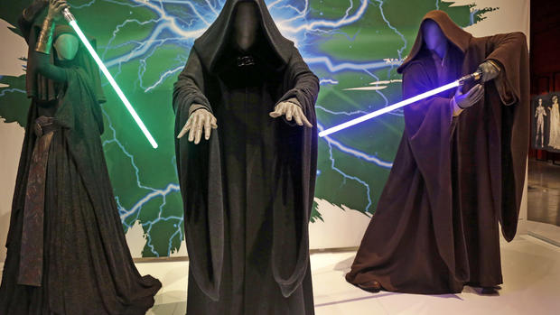 Star Wars costumes on display