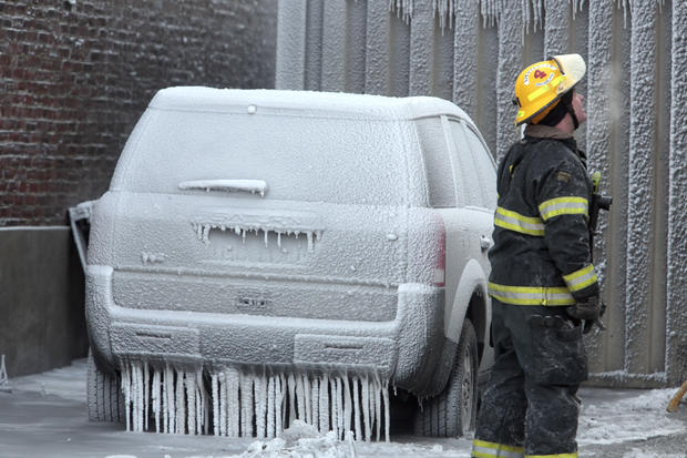 Flash freeze at Philly fire