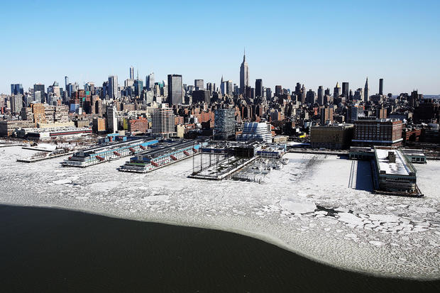 Arctic New York from the air