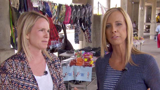 CBS News producer Sarah Carter, at left, and correspondent Debora Patta