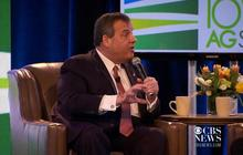 Chris Christie interrupted by New Jersey hecklers