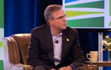 How is Jeb Bush's message playing in Iowa?