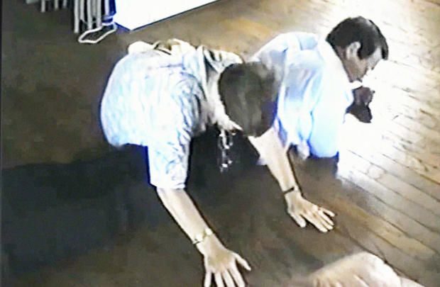 in 1994, Bunny Lehton showed investigators how she was forced to lay down on the floor