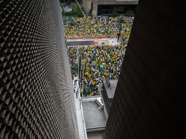 Nearly a million march to oust Brazil's president