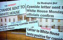 Letter sent to White House tests positive for cyanide