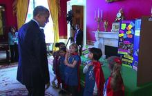 "Girl Scout Science Fair team meets Obama, questions his ""brainstorming sessions"""