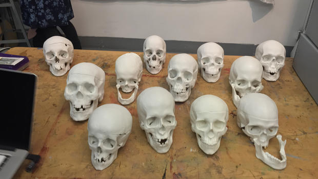 From skull to sculpture: A lesson in forensic art
