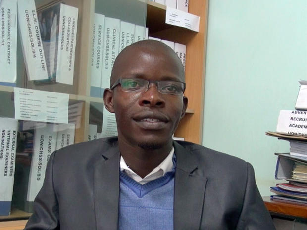 University of Nairobi law student Desmond Tutu Owuoth