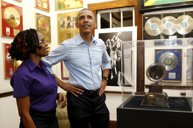 President Obama visits Bob Marley Museum on Jamaica visit in