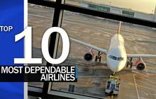 Top 10 most dependable airlines